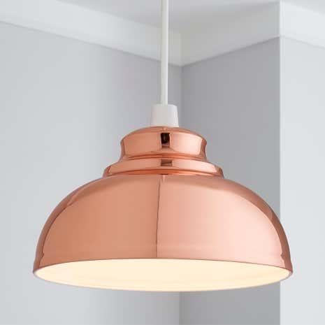 Bathroom Lights Dunelm appleton copper galley pendant | dunelm