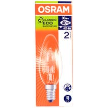 Osram Halogen Eco 30 Watt Candle Bulb