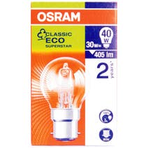 Osram Halogen Eco 30 Watt Golf Ball Bulb