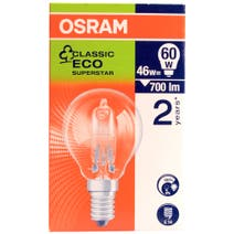Osram Halogen Eco 46 Watt Golf Ball Bulb