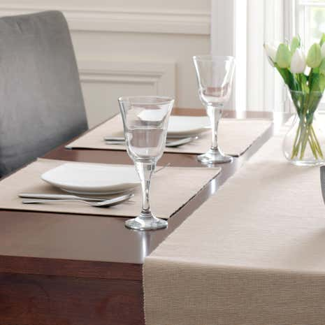 Taupe Ribbed Placemat