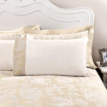 Dorma Clara Cream Cuffed Pillowcase