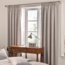 Dorma Paisley Natural Lined Pencil Pleat Curtains