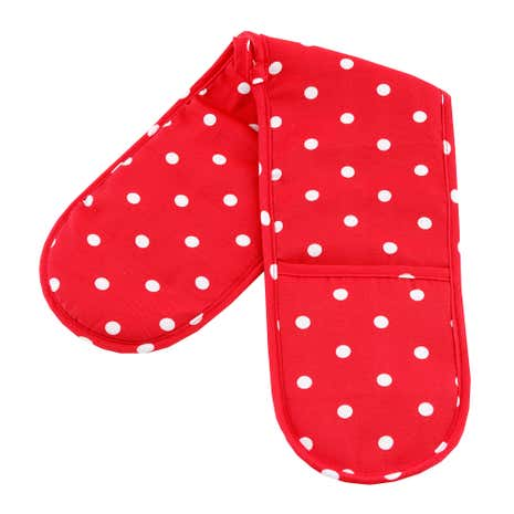 Red Dotty Double Oven Glove