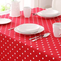 Red Dotty Tablecloth