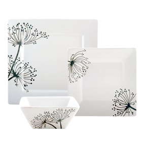 Square Sprig 12 Piece Dinner Set
