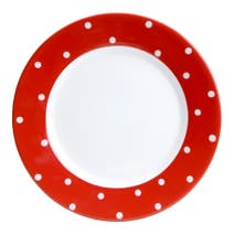 Farmstead Red Dotty Dinner Plate