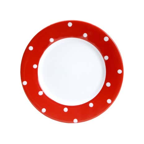 Farmstead Red Dotty Side Plate