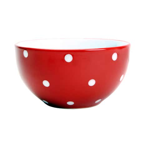 Farmstead Red Dotty Bowl