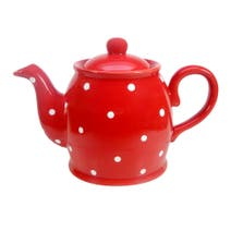 Farmstead Red Dotty Teapot