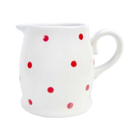 Farmstead White Dotty Creamer