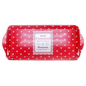 Farmstead Red Dotty Small Tray