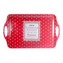 Farmstead Red Dotty Large Tray