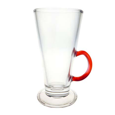 Coloured Handle Latte Glass