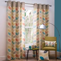 Oslo Lined Eyelet Curtains