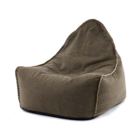 Brown Canvas Bean Chair