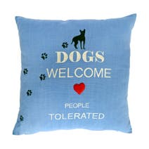 Dogs Welcome Cushion