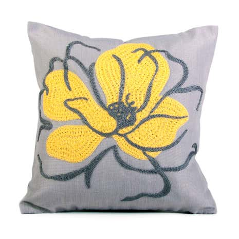 Figaro Crewel Flower Cushion