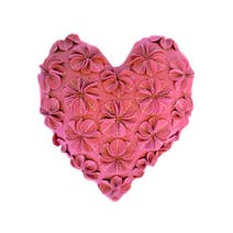 Heart Shaped Flower Cushion