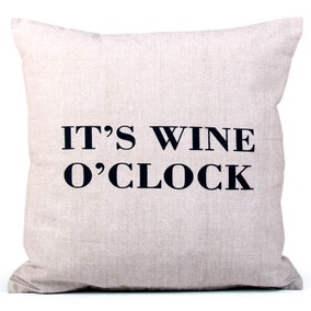 Natural Wine O'Clock Cushion