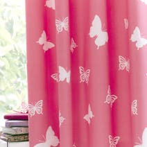 Bright Butterflies Blackout Eyelet Curtains