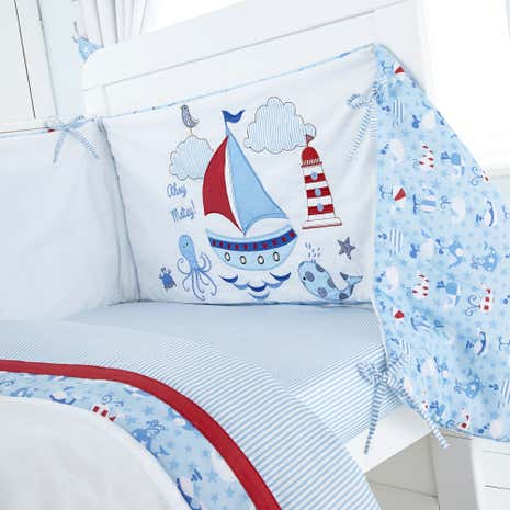 Kids Nautical Nursery Coverlet and Bumper