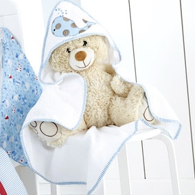 Kids Nautical Nursery Cuddle Robe and Mitt