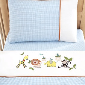 Sweet Safari Nursery Cot Bed Duvet Cover and Pillowcase Set