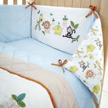 Sweet Safari Nursery Coverlet and Bumper