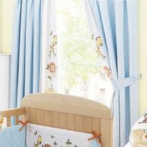 Sweet Safari Nursery Blackout Pencil Pleat Curtains