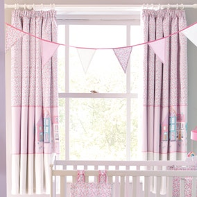 Up and Away Nursery Blackout Pencil Pleat Curtains