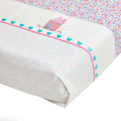 Up and Away Nursery Pink Flat and Fitted Sheet
