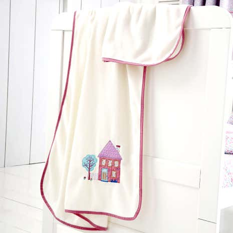 Up and Away Pink Nursery Fleece