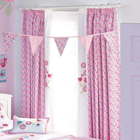 Songbird Lined Pencil Pleat Curtains