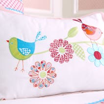 Kids Pink Songbird Cushion