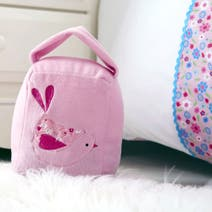 Kids Pink Songbird Soft Doorstop