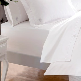 Dorma 100% Egyptian Cotton 1000 Thread Count White Fitted Sheet