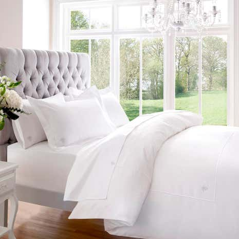 Dorma Egyptian Cotton 1000 Thread Count White Duvet Cover
