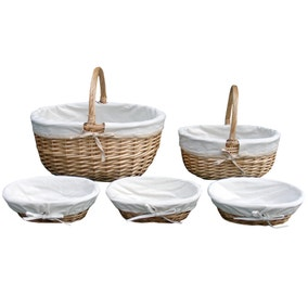 Farmstead Willow and Canvas Basket
