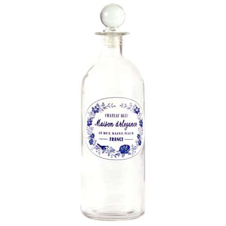 Chateau Blue Glass Perfume Bottle