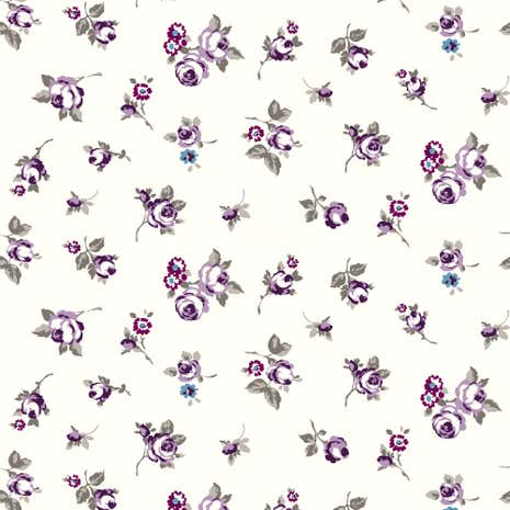 Heather Rosebud Fabric