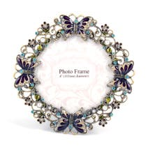 Flora and Fauna Jewelled Photo Frame