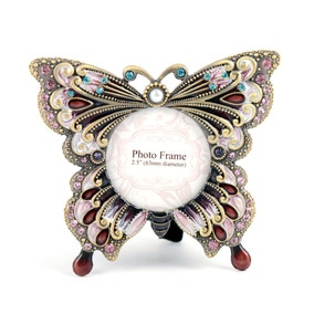 Flora and Fauna Jewelled Butterfly Photo Frame