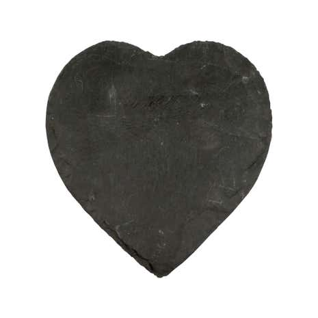 Core Heart Slate Candle Plate