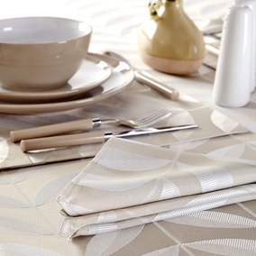 Natural Leaf Set of 4 Napkins