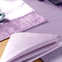 Sharis Pack of Four Lilac Napkins