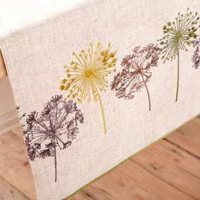 Dandelion Clock Table Runner