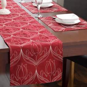 Lalique Red Table Runner