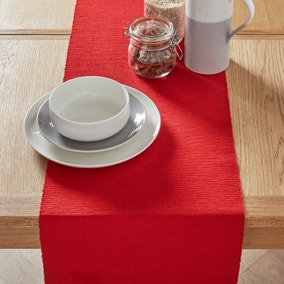 Red Ribbed Table Runner