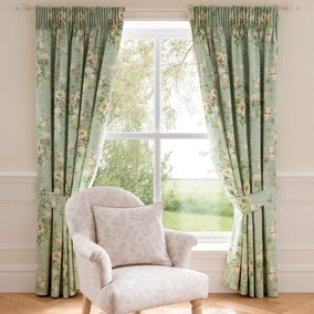 Dorma Brympton Duck-Egg Lined Pencil Pleat Curtains